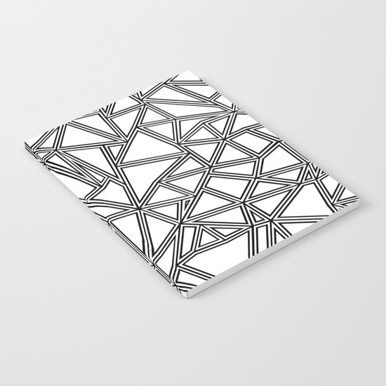 Abstract New Black on White Notebook