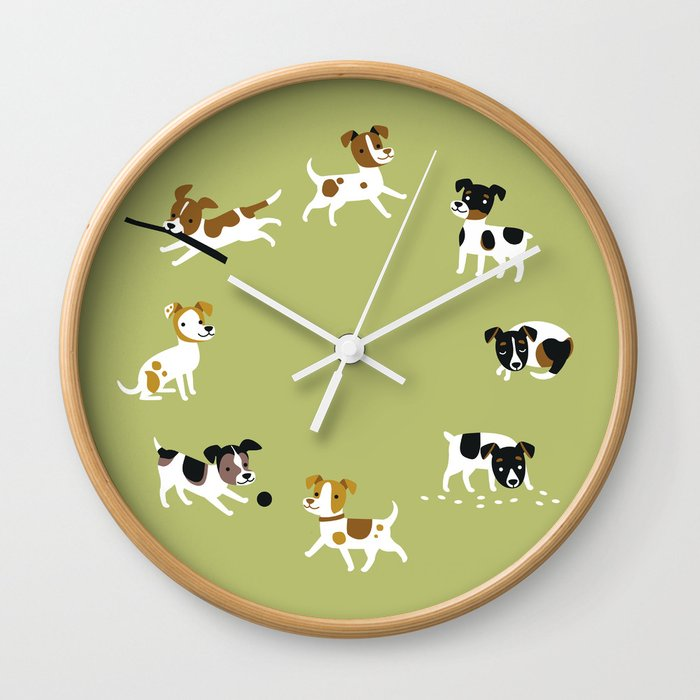 Farmdogs are wonderful things Wall Clock