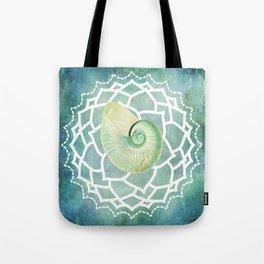 Shell Chakra Blue Tote Bag