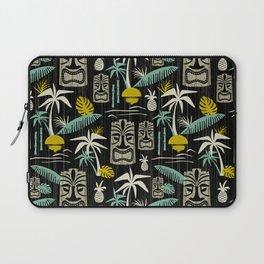 Island Tiki - Black Laptop Sleeve