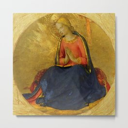 "Fra Angelico (Guido di Pietro) ""Perugia Altarpiece - Annunciation of the Virgin Mary"" Metal Print"