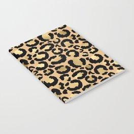 Animal print - natural gold Notebook