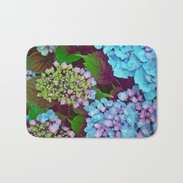 Hydrangea Pink and Blue Bath Mat