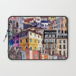 City Structures Collage Laptop Sleeve