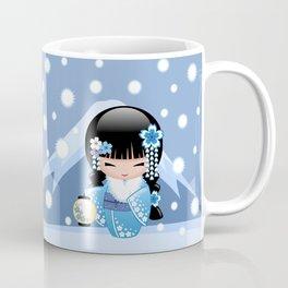 Japanese Winter Kokeshi Doll at Blue Mountain Coffee Mug
