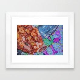 """Koi Fish """"LUCKY"""" Framed Art Print"""