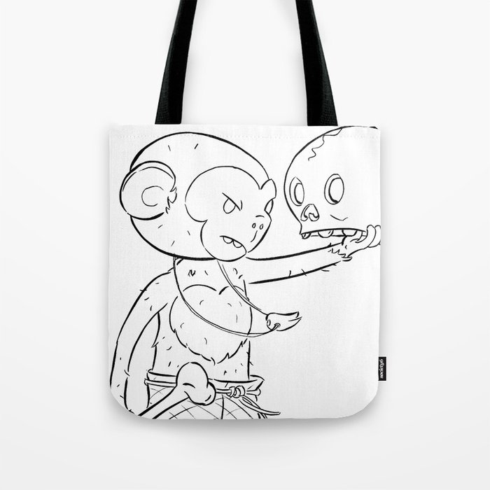 Monkey Pirate - ink Tote Bag