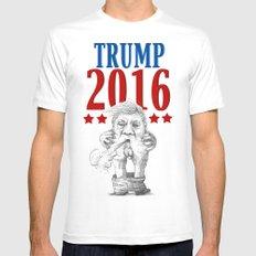 Trump 2016 MEDIUM White Mens Fitted Tee