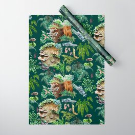 Mossy Forest Pattern Green Wrapping Paper