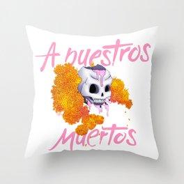 A Nuestros Muertos Throw Pillow