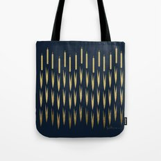 Navy Cattail Tote Bag