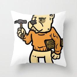 carpenter wood gift joiner craftsman job Throw Pillow