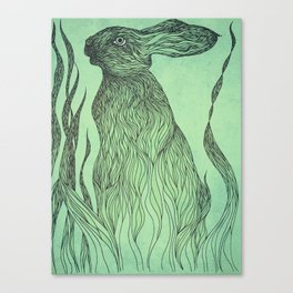 Hiding in the green Canvas Print