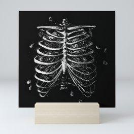 Ribcage + Roses - Anatomical Illustration Mini Art Print