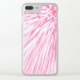 Rose pink Pixel Wind Clear iPhone Case