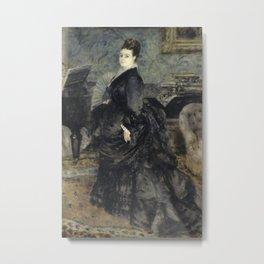 Pierre-Auguste Renoir - Portrait de femme, dit de Mme Georges Hartmann Metal Print