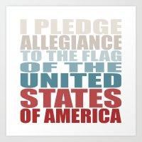 america Art Prints featuring America by Jason Michael