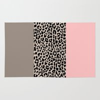 the national Area & Throw Rugs featuring Leopard National Flag XVI by M Studio