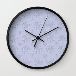 3D Texture Light Purple - Pointilist Mandala Art Wall Clock