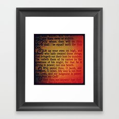 TO WHOM (Isaiah 40) Framed Art Print