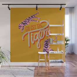 Go Get 'Em Tiger – Yellow Palette Wall Mural