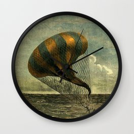 Hot Air Balloon - Jules Verne/George Roux Wall Clock