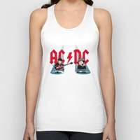 acdc Tank Tops featuring ACDC by victimArte