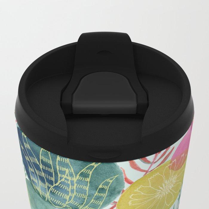 Succulent Circles Metal Travel Mug