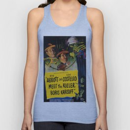 Vintage Movie Posters, Abbott and Costello Meet the Killer Unisex Tank Top