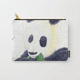 Giant Panda eating Bamboo Watercolor Painting Carry-All Pouch