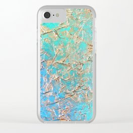 Metallic Abstract Art Clear iPhone Case