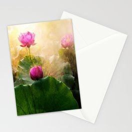 Pink Lotus Flower Stationery Cards