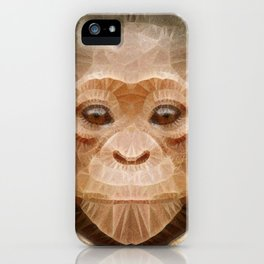 abstract baby chimpanzee iPhone Case