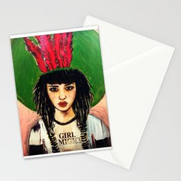 GIRL ALMIGHTY PAINTING Stationery Cards