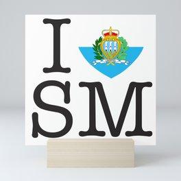 I Love San Marino Mini Art Print