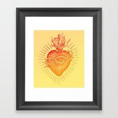 Bleeding Heart – Scarlet version Framed Art Print