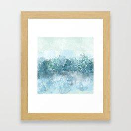 Choppy Blue Ocean Water Framed Art Print