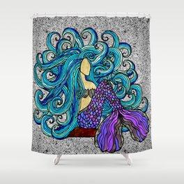 2017 Blue Mermaid Shower Curtain