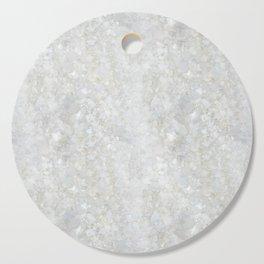 White Apophyllite Close-Up Crystal Cutting Board