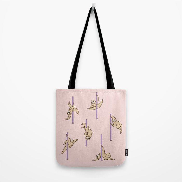Sloths Pole Dancing Club Tote Bag