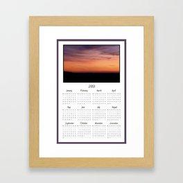 2013 Sunset Photo Calendar Framed Art Print