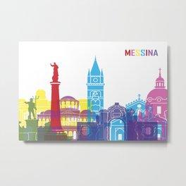 Messina skyline pop Metal Print
