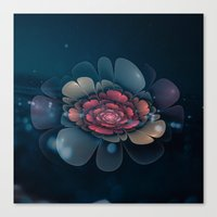 Canvas Prints featuring A Beautiful Fractal Flower by Klara Acel