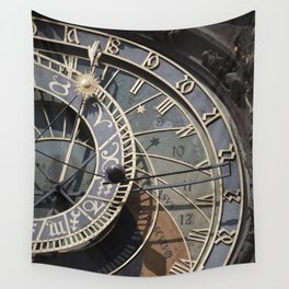 Astronomical clock Prague Wall Tapestry
