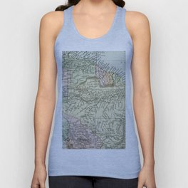 South America Vintage Map Unisex Tank Top