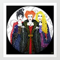 hocus pocus Art Prints featuring Hocus Pocus by The Curly Whirl Girly.