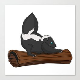 Stripy Skunk Canvas Print