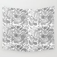 paisley Wall Tapestries featuring Paisley by Janet Guevara