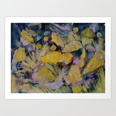 Gloden Harvest Collage Art Print