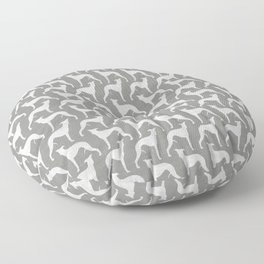 Whippet Silhouette(s) Floor Pillow